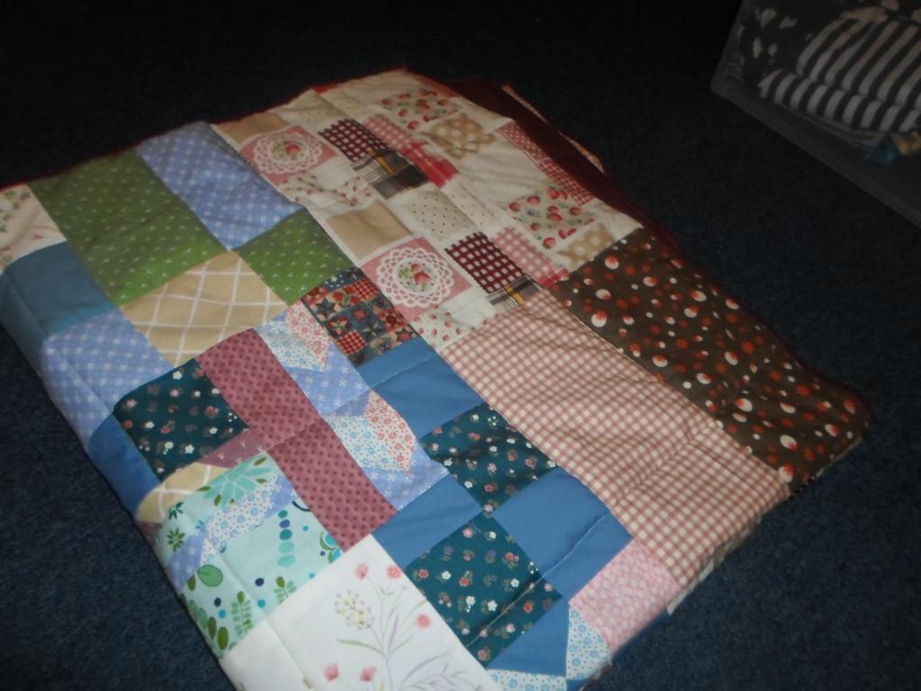 John's quilt folded
