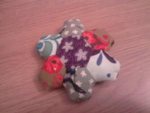 hexagon patchwork pin cushion