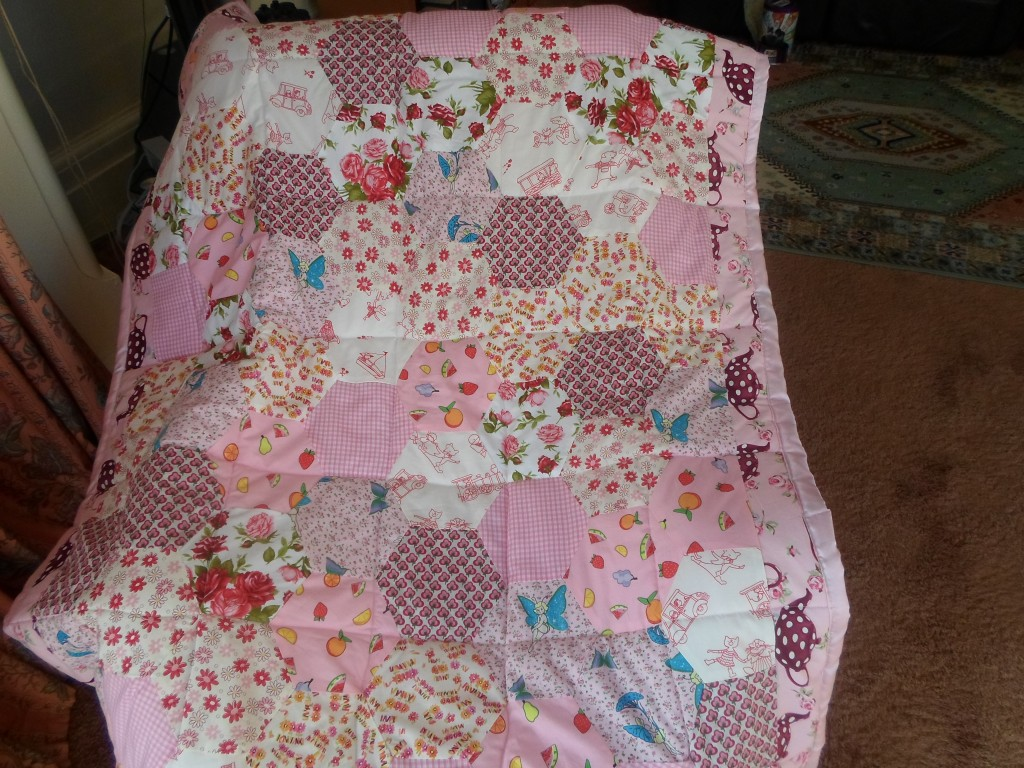 finished pink quilt