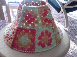 Granny Square Lamp Shade