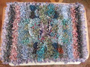 completed rag rug