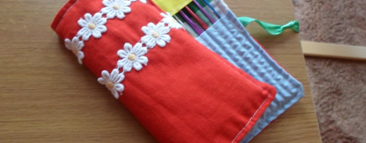 Bright Crochet Hook Roll