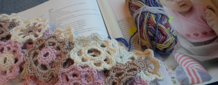 Train Crochet  – Flower Scarf