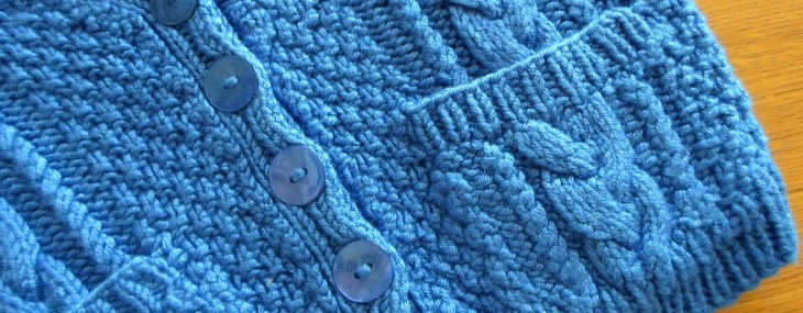 Knitting for baby – Cable Cardigan