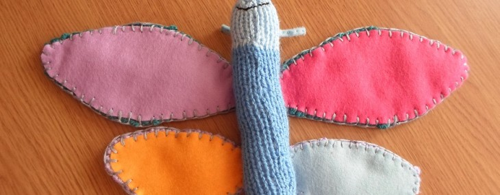 knittted butterfly