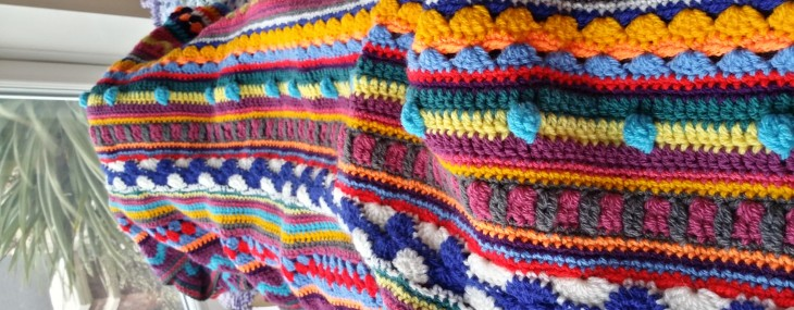 Pic 'n mix crochet blanket